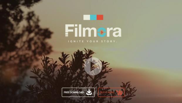 Фрагмент сайта Filmora.