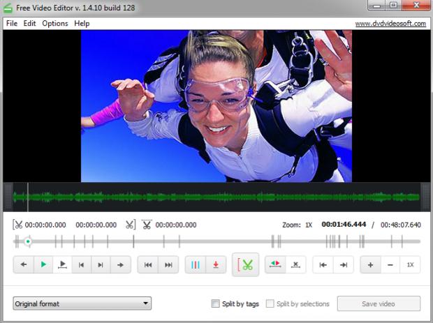 Фрагмент программы Free Video Editor.