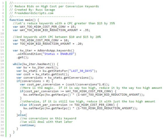 100 полезных скриптов для автоматизации работы в Google AdWords