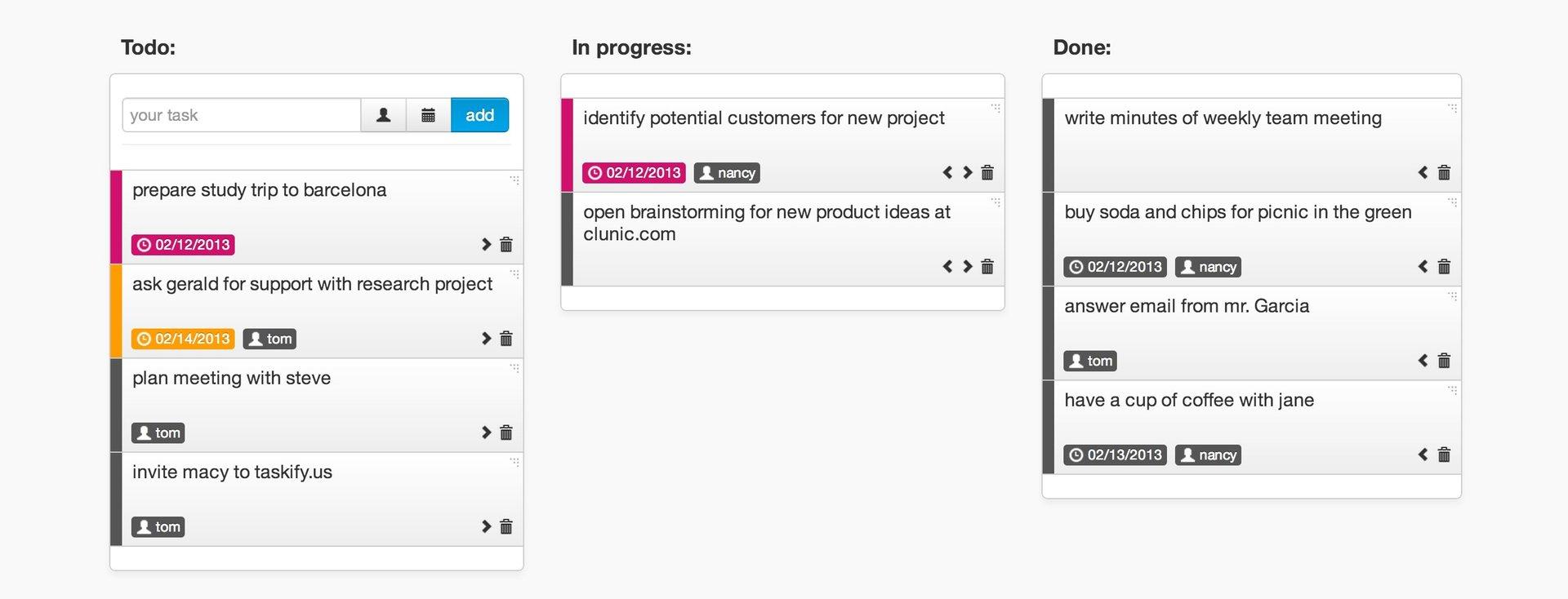 Taskify.us –простое приложения для создания листа задач и управления ими вместе со своей командой по типу Kanban доски.