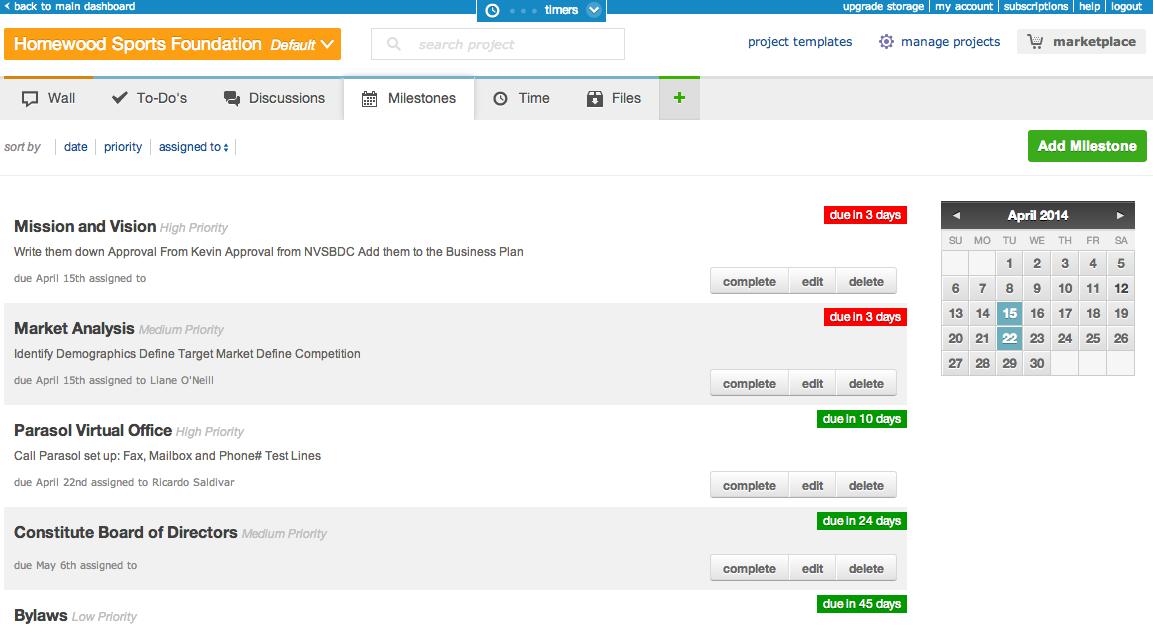 Freedcamp – сервис представляет собой организованное рабочее пространство для мгновенного просмотра целого проекта, выставления и назначения задач, используя «стикеры» и календарь. Freedcamp предлагает дополнения для CRM, составления инвойсов, баг-трекинга и создания wiki страниц