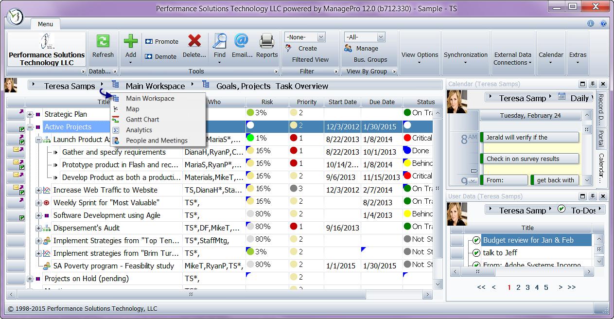 ManagePro – приложение для десктопа, включающее в себя основные особенности для управления проектами: диаграмму Ганта, назначение задач, выставление приоритетов выполнения.