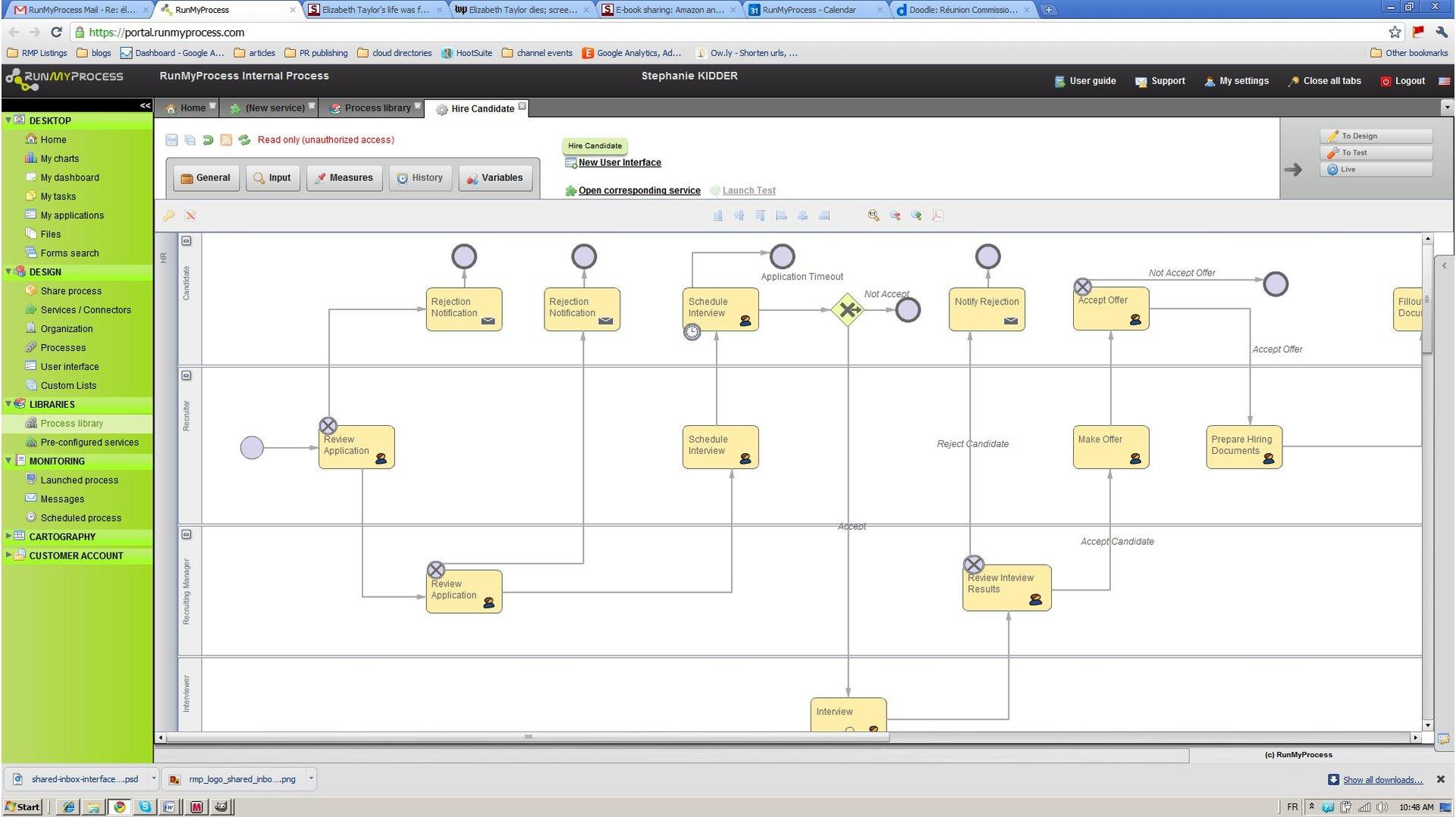 RunMyProcess – в сервисе сделан упор не на целостном приложении для управления проектами и не на интеграции с другими сервисами, а на построении собственных решений, подключении уже используемых сервисов и каналов коммуникаций