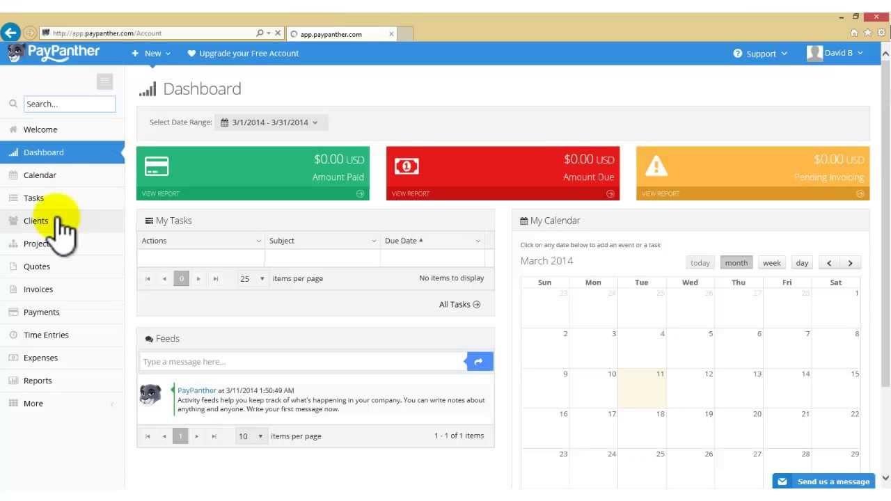 PayPanther – приложение не столько для управления проектами (хотя, эта особенности так же присутствует), сколько для слежения за онлайн платежами, создания инвойсов, а также ведения бухгалтерии.