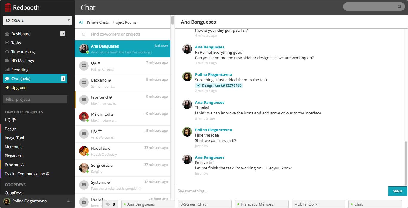 Redbooth – web-сервис, позволяющий отслеживать ошибки, планировать проекты и активности