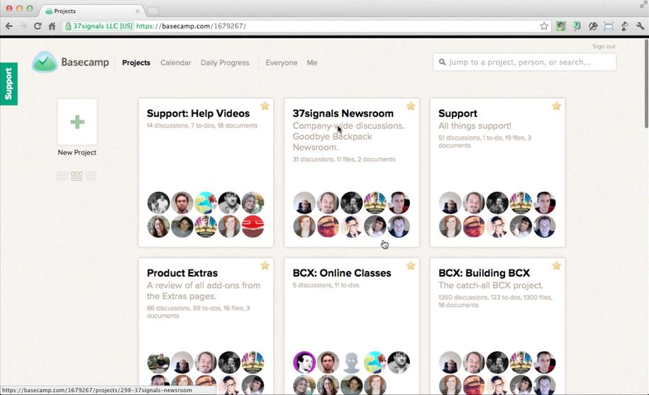Basecamp – один из самых популярный онлайн-сервисов для совместной работы над проектами